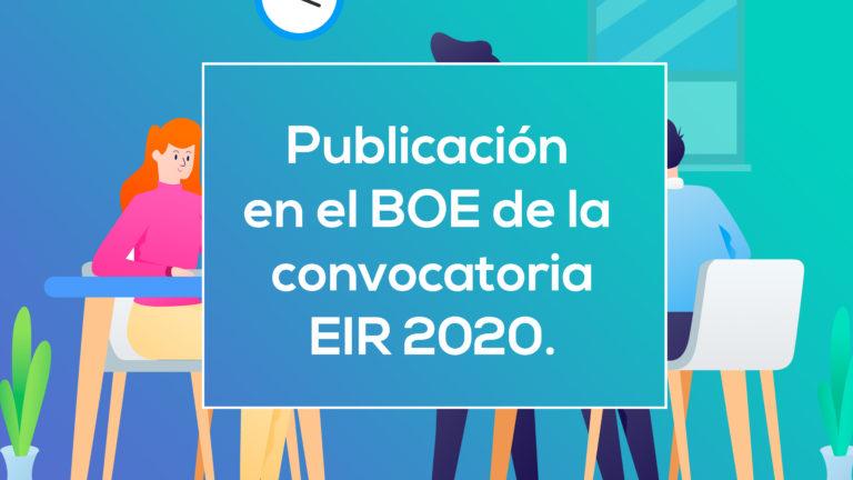 Publicación en el BOE de información sobre EIR 2020